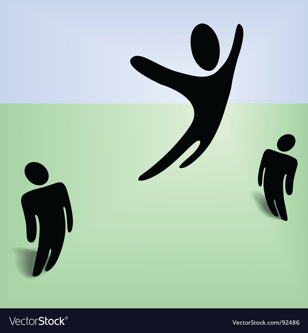 Flying person