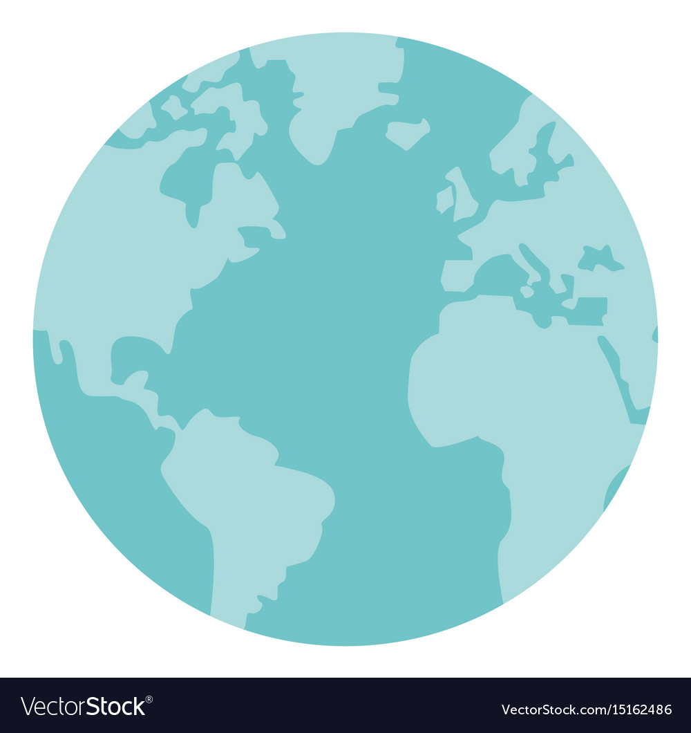 Globe world earth map round icon vector image