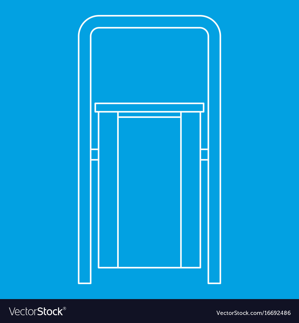 Outdoor litter waste bin icon outline style vector image