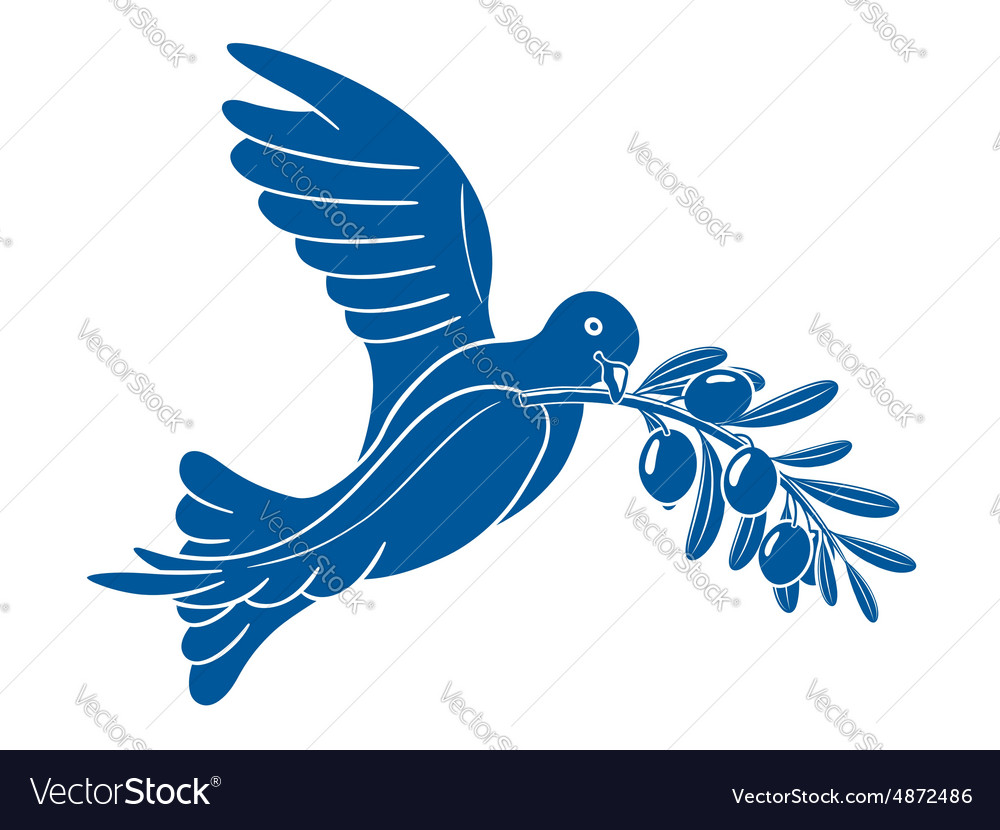 Pigeon with olive branch