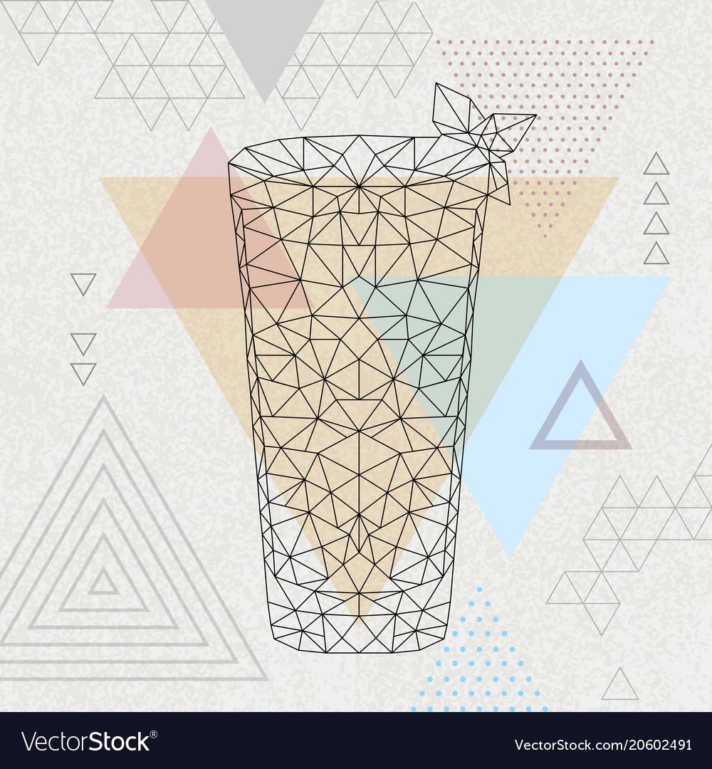Abstract polygonal tirangle cocktail mojito