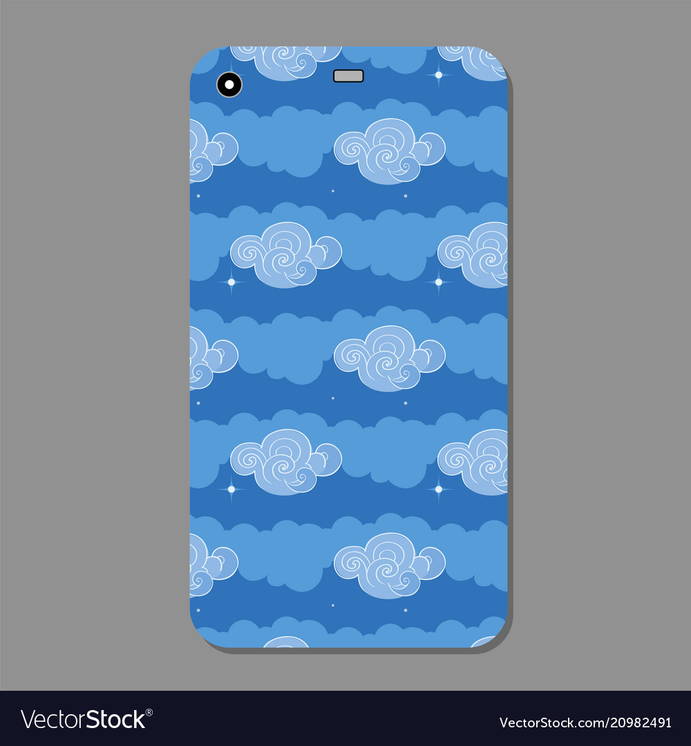 Cute blue clouds collection on a