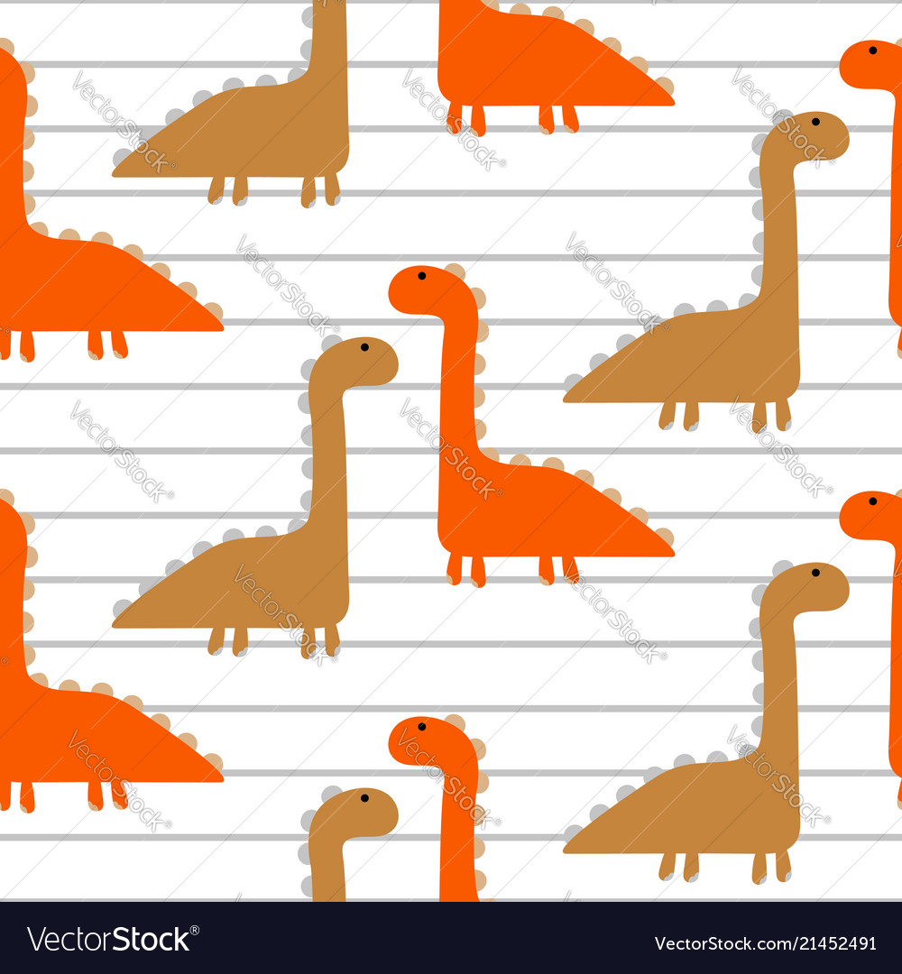 Dino cheerful kid seamless pattern