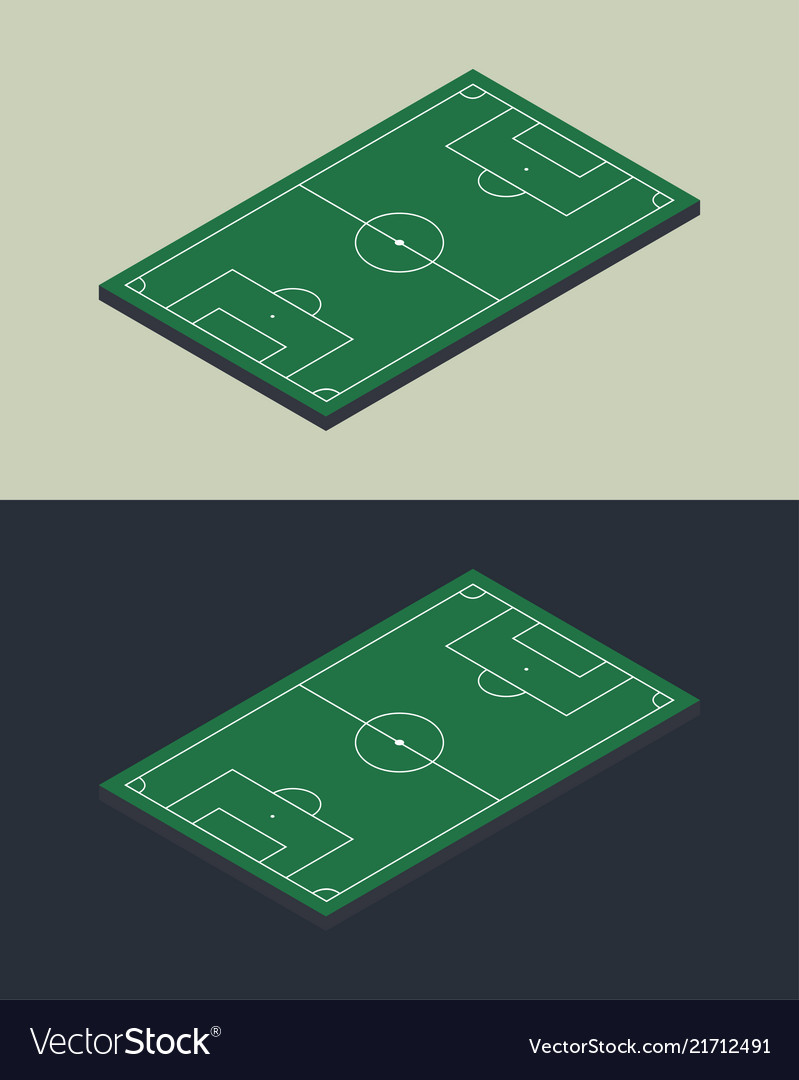 Football soccer field isometric isolated template vector image maxwellsz