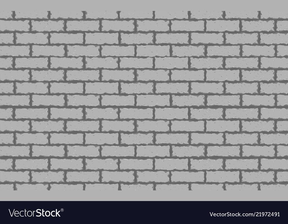 Gray brick wall seamless background