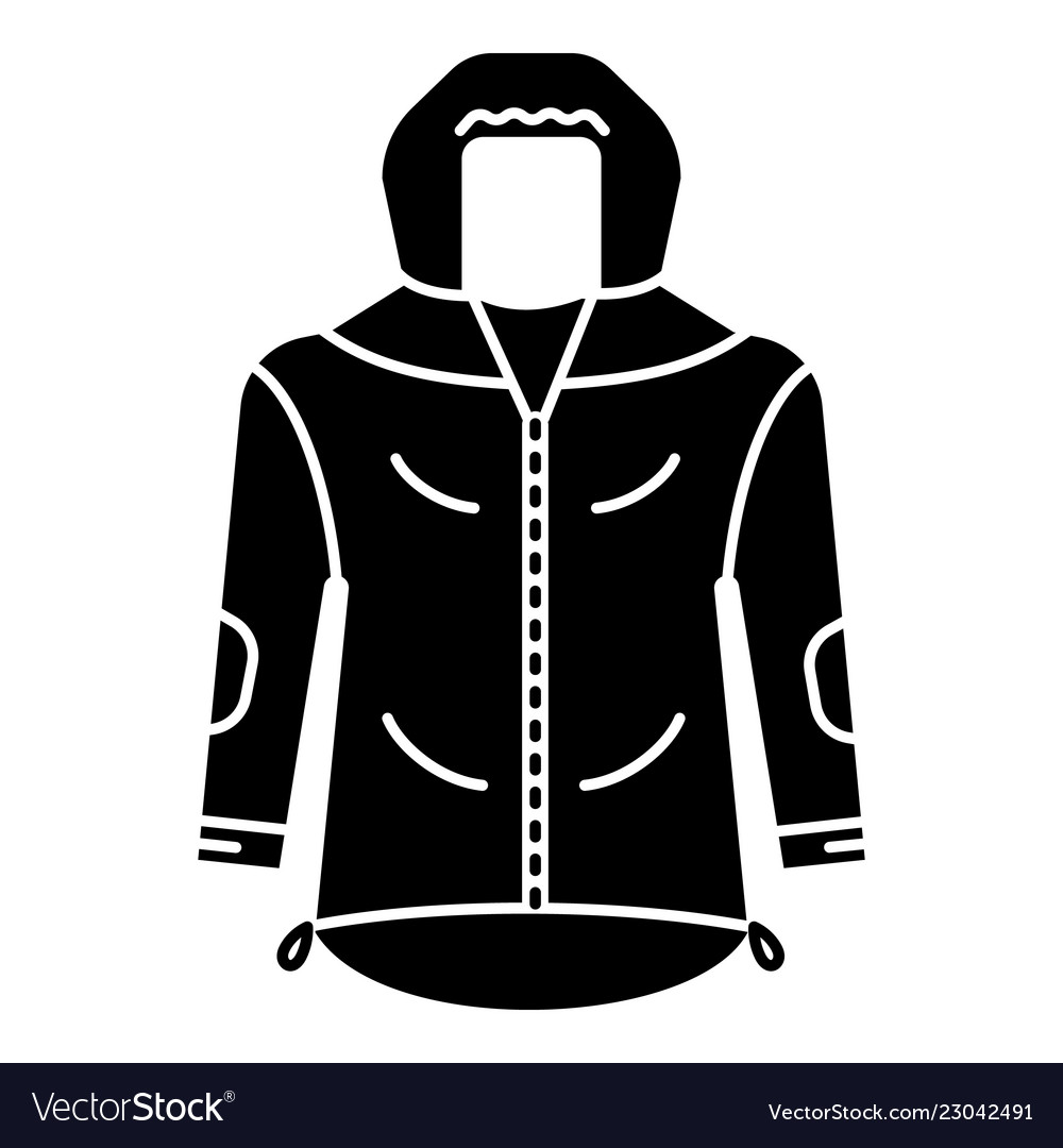 6eedc4575943 Hiking jacket icon simple style Royalty Free Vector Image