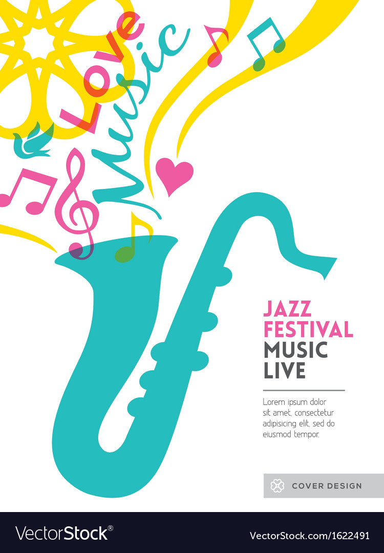 Jazz music festival design background layout