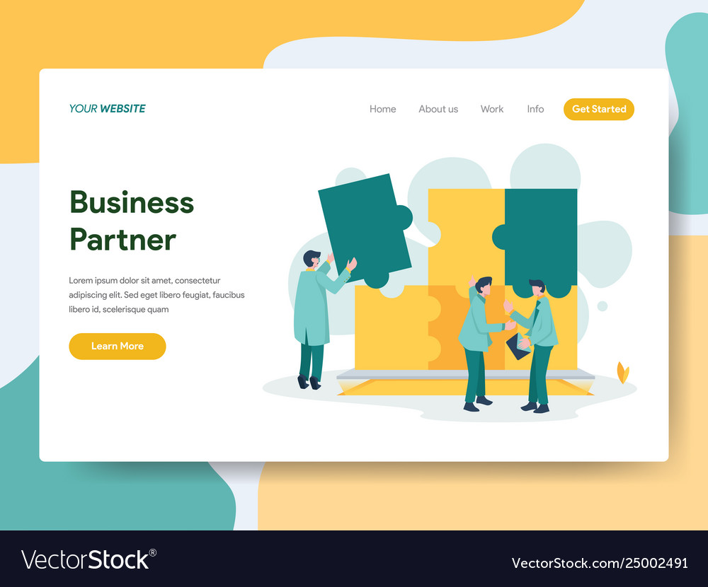 Landing page template business partner