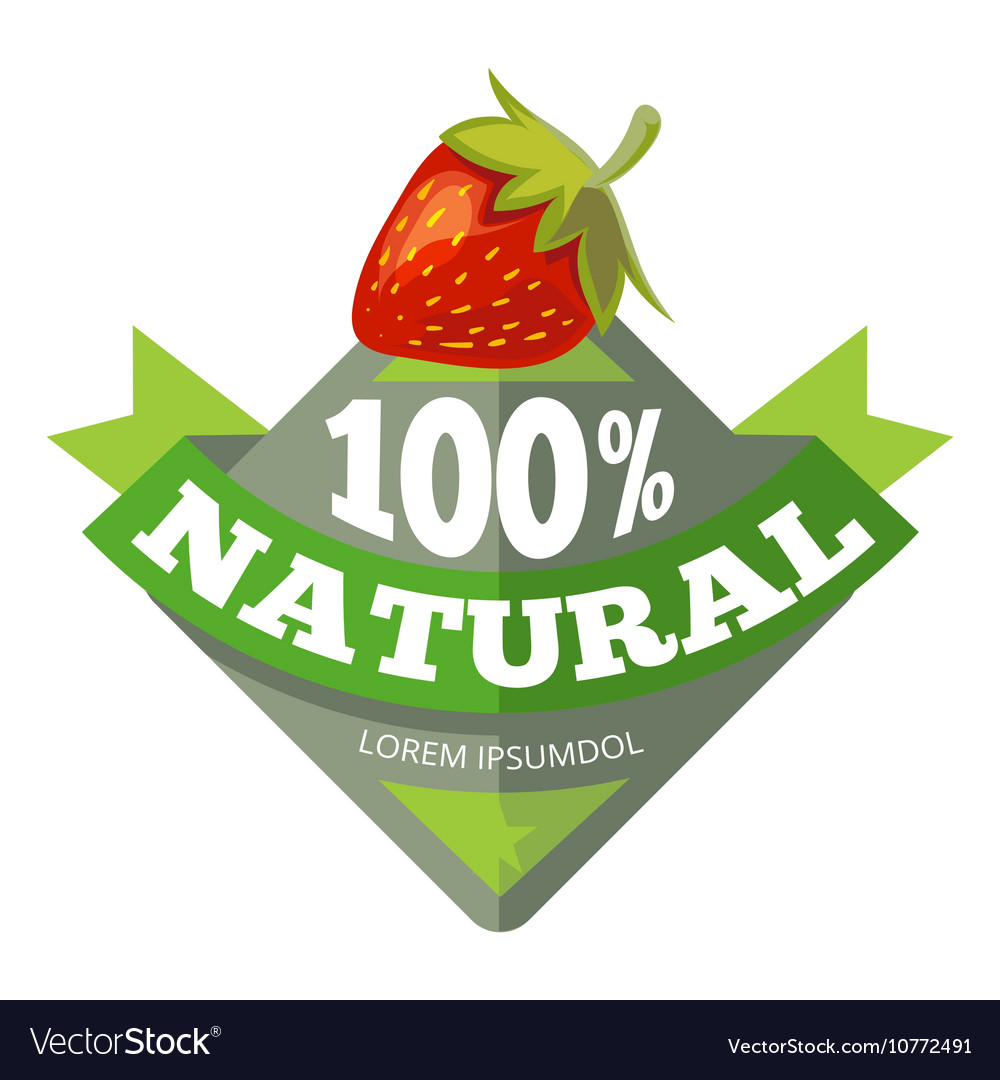 Organic natural fruits logo label badge