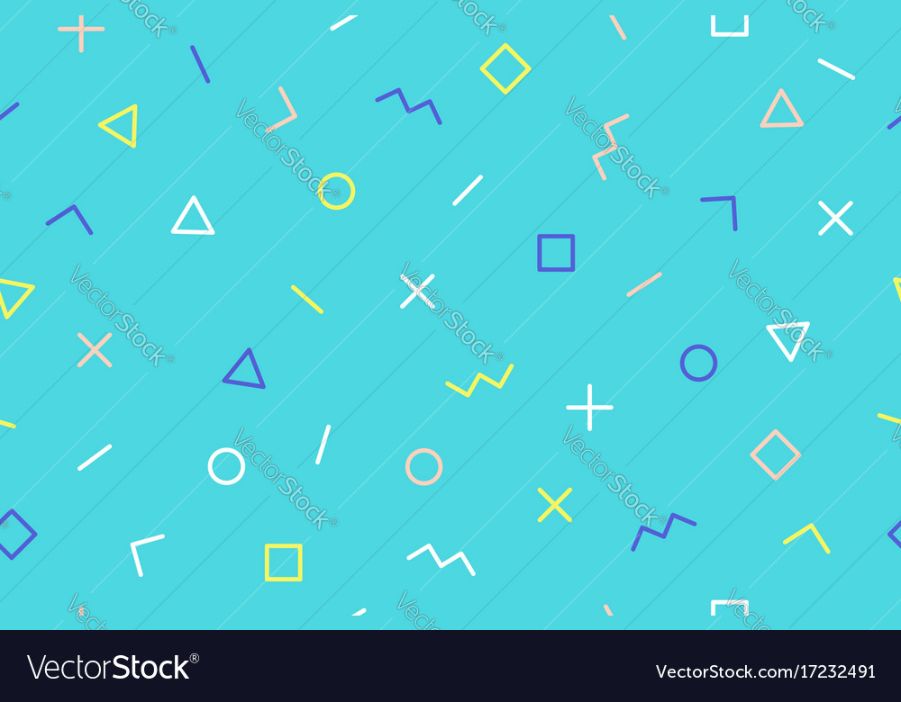 Seamless graphic pattern trendy memphis style vector image