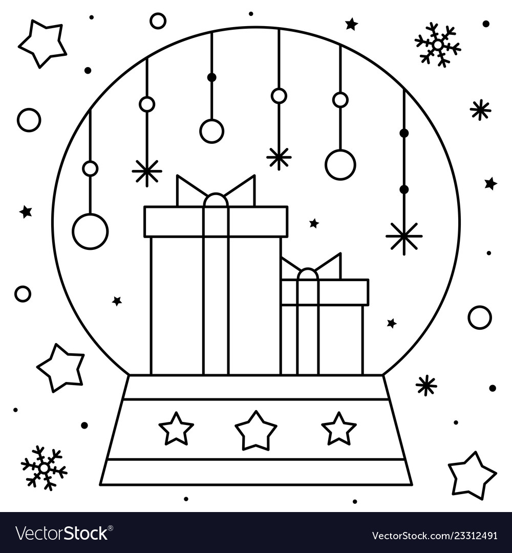 Snow Globe | Worksheet | Education.com | 1080x1000