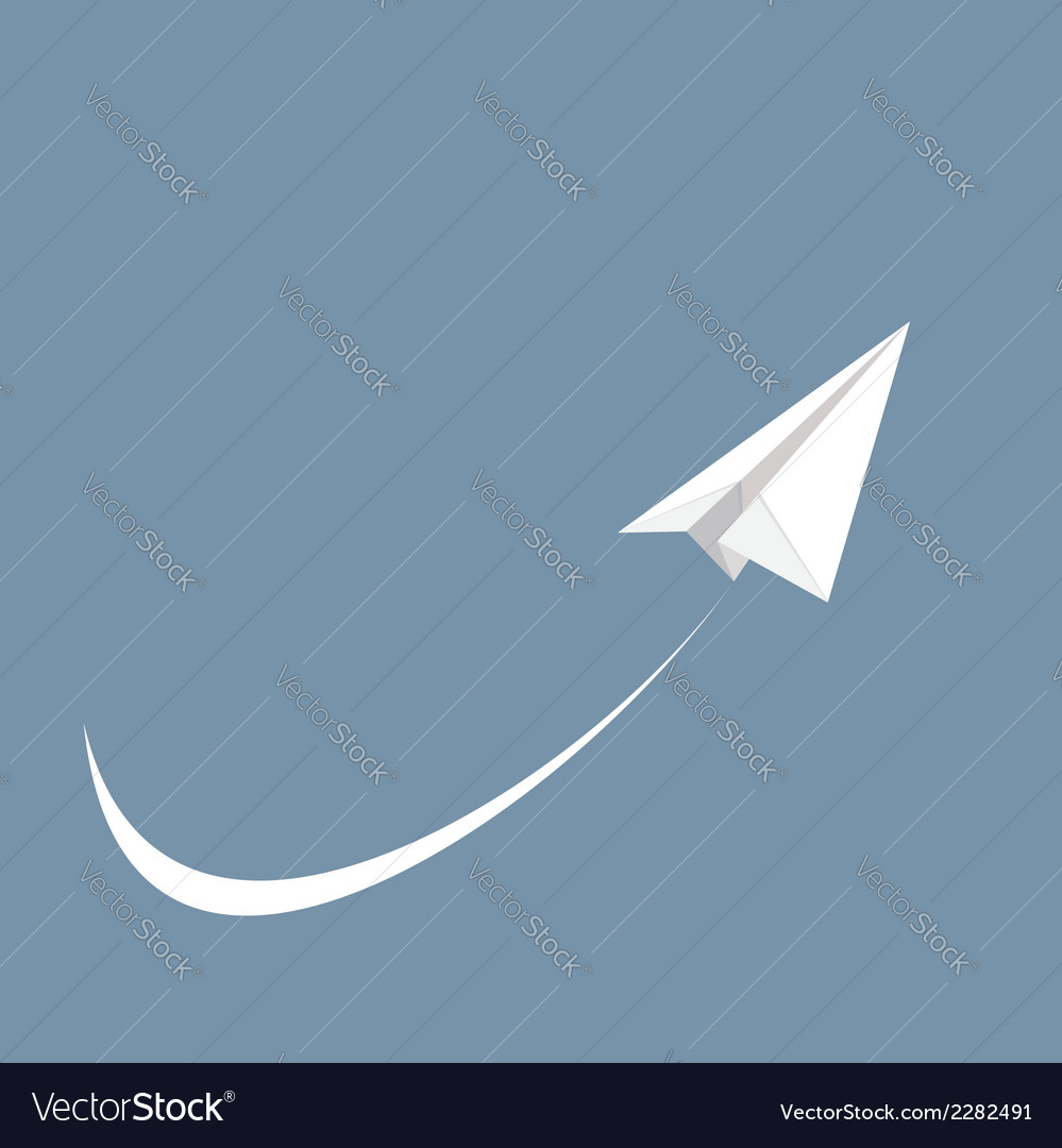 White paper airplane