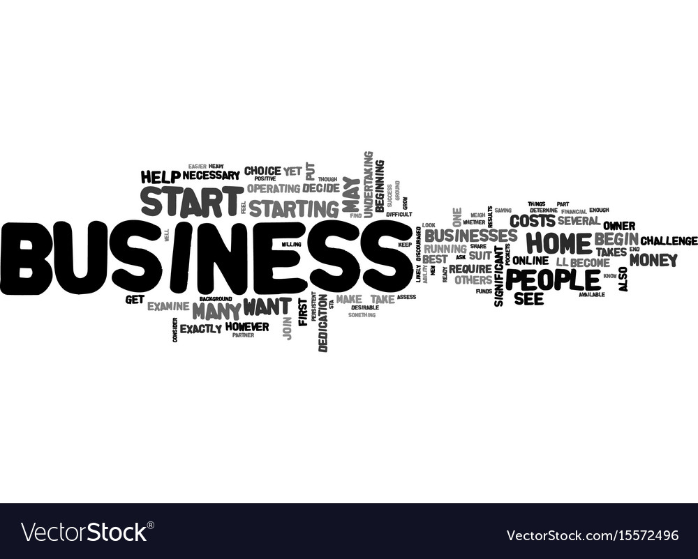 Are you ready to start your own home business Vector Image