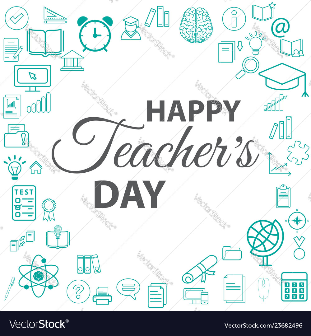 Banner or poster for happy teacher day