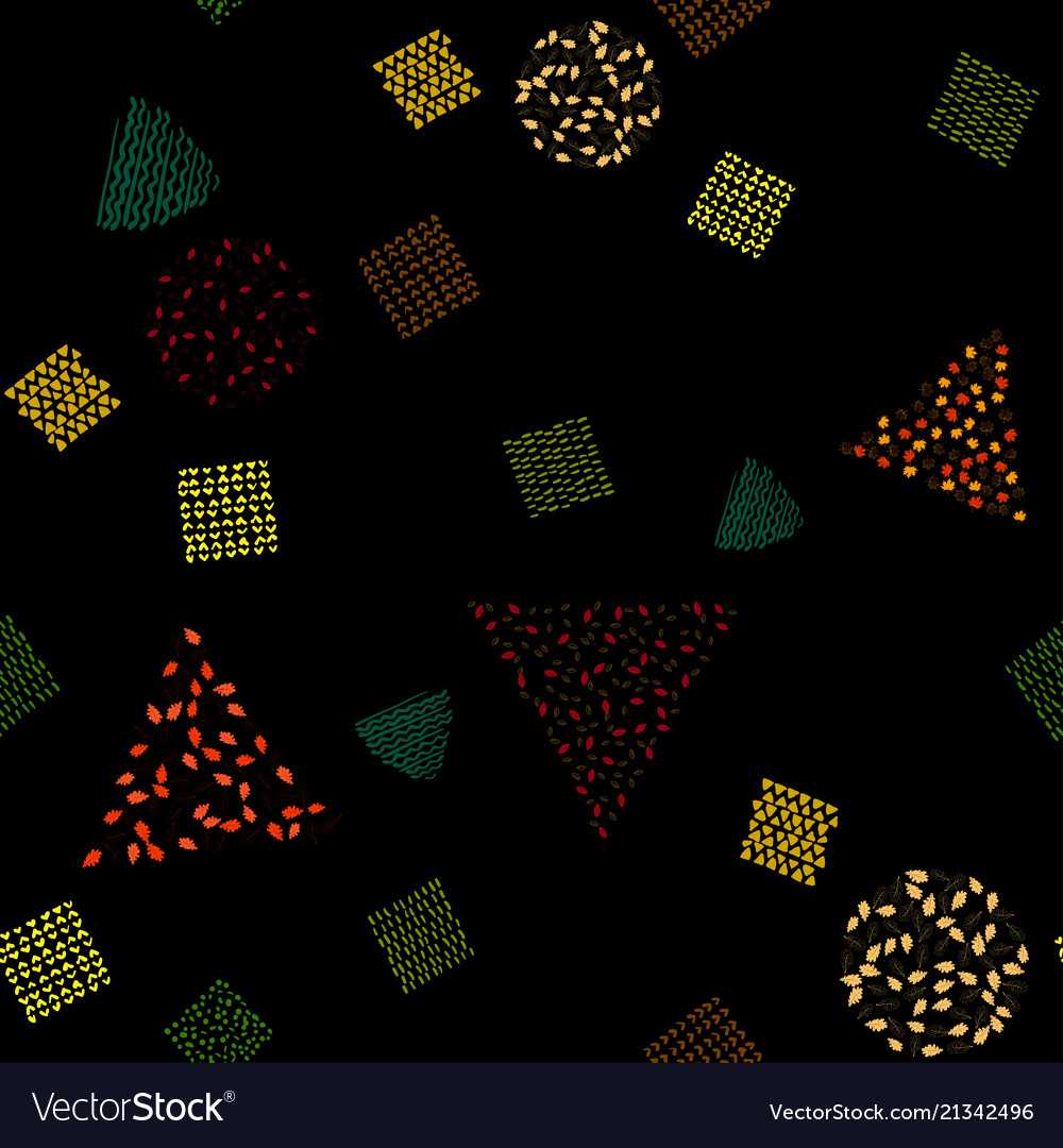 Bright seamless pattern with colored autumn leaves
