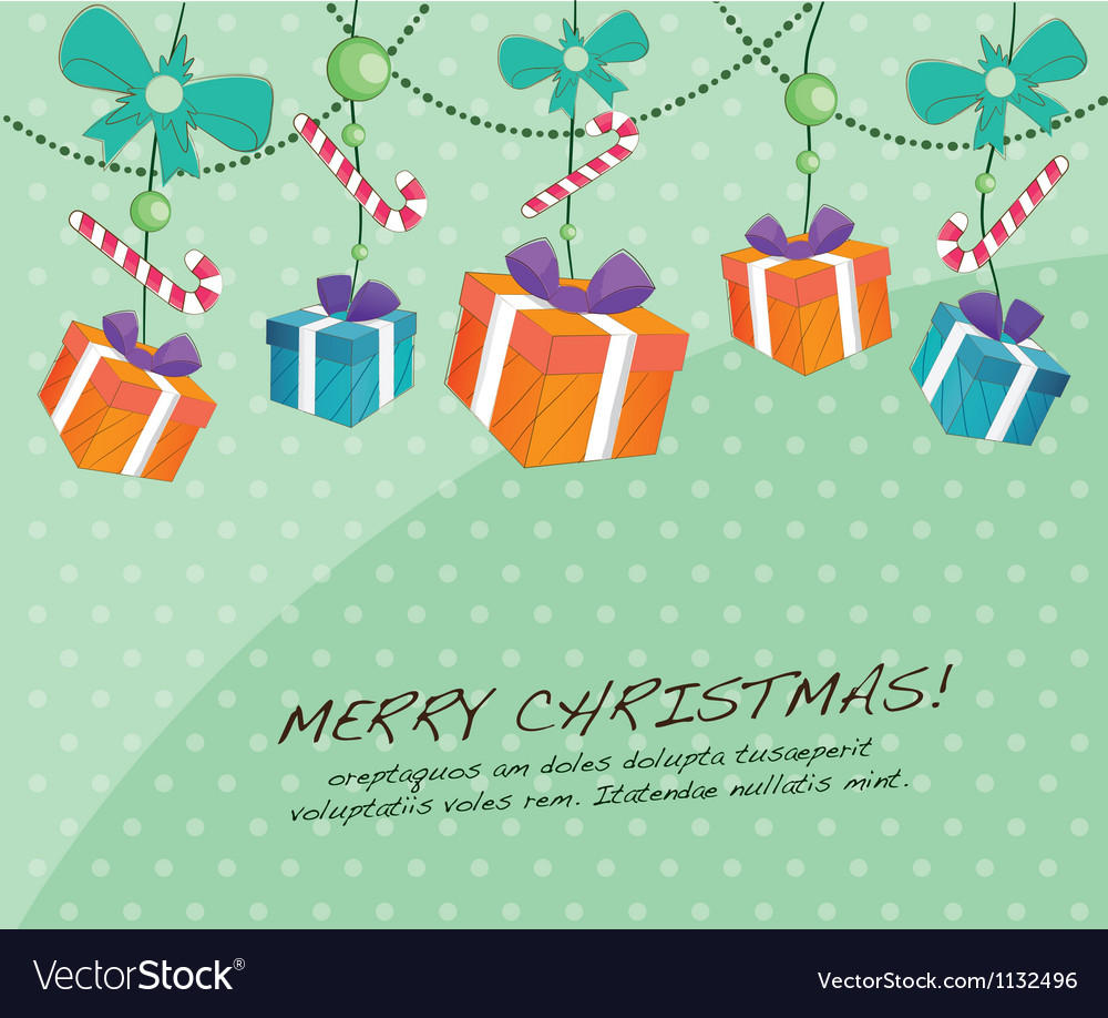 cute christmas cards vector image - Mint Christmas Cards