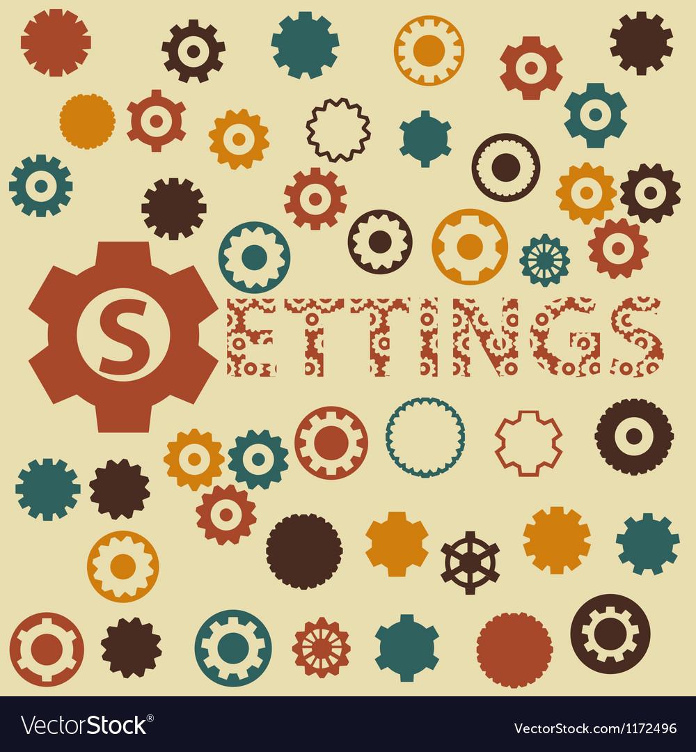 Gear and cogwheels pattern seamless