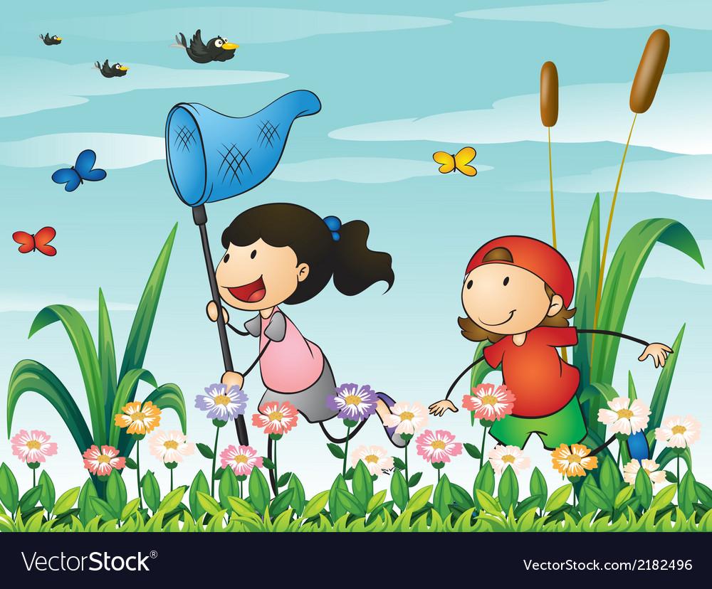 Kids Playing Garden Stock Illustrations – 2,678 Kids Playing Garden Stock  Illustrations, Vectors & Clipart - Dreamstime