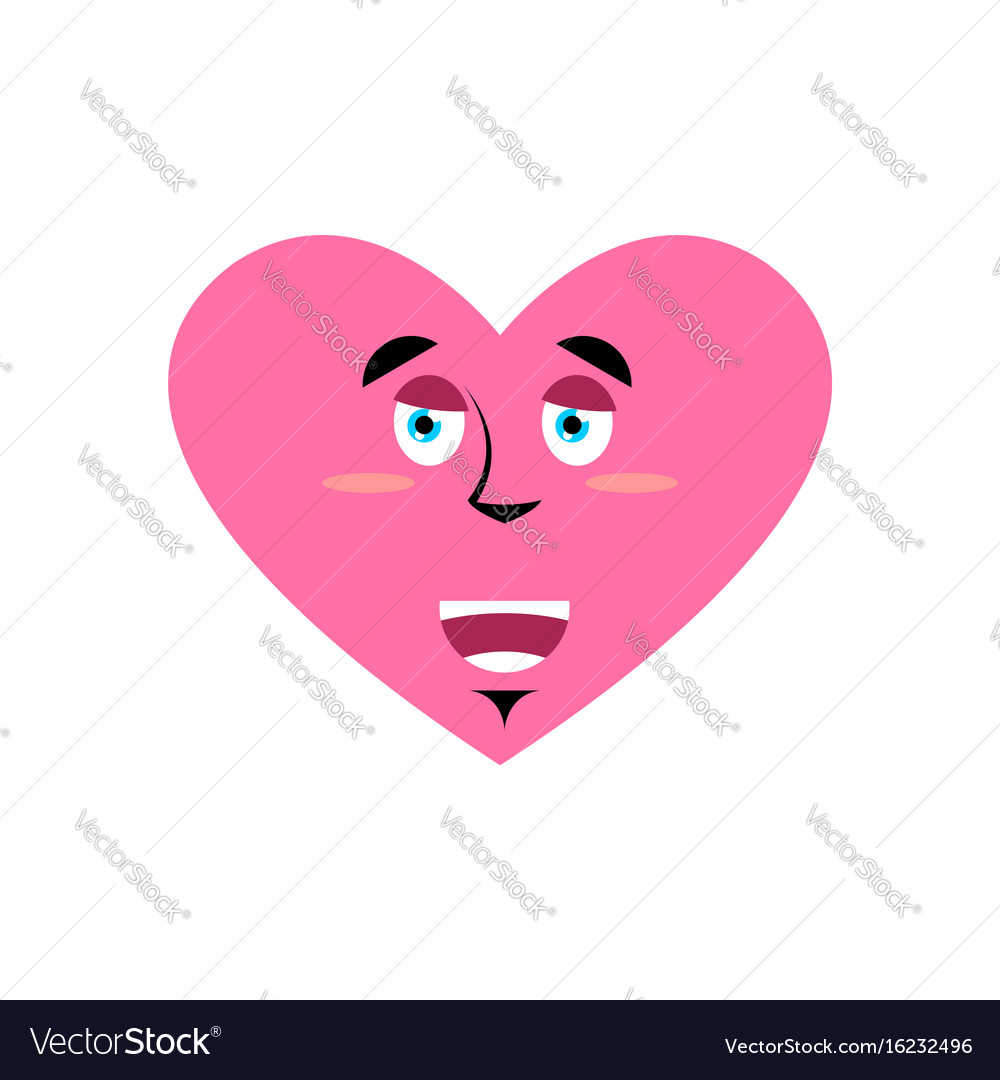 Love happy emoji heart merry emotion isolated vector image