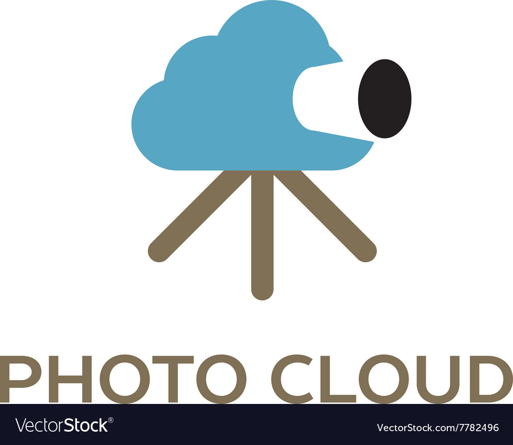 Photo cloud creative logo for cloud computing vector image