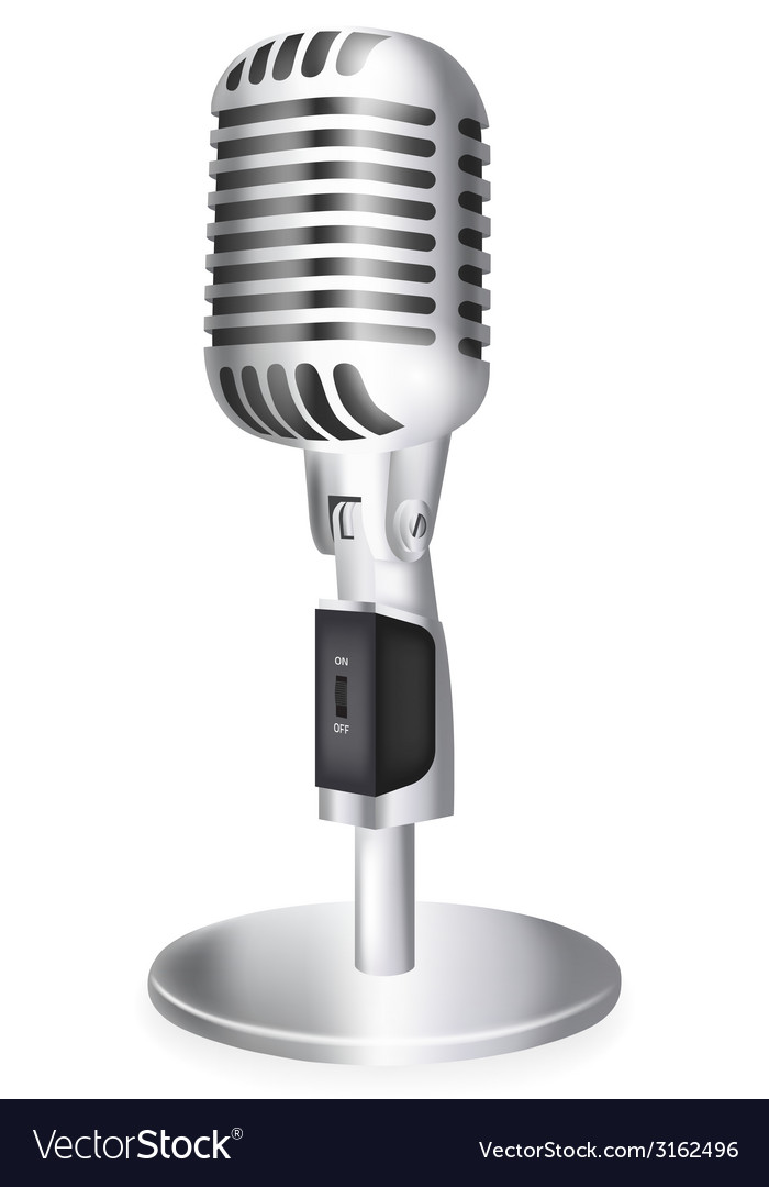 Single retro microphone