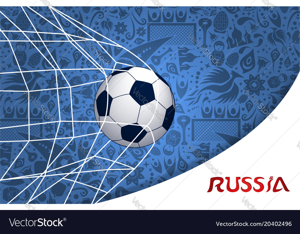 Soccer match russian background design vector image