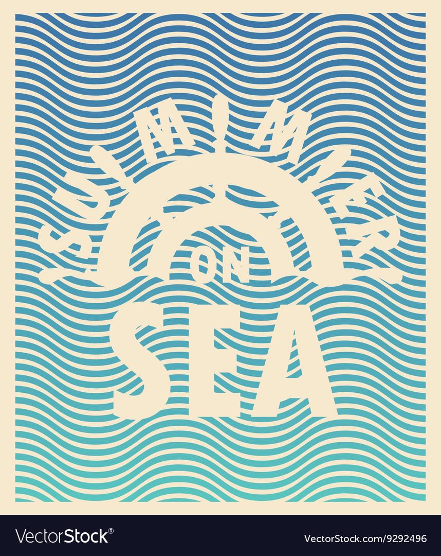 Summer on sea and ship steering wheel