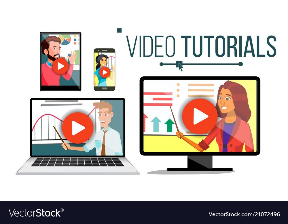 Video tutorial streaming application