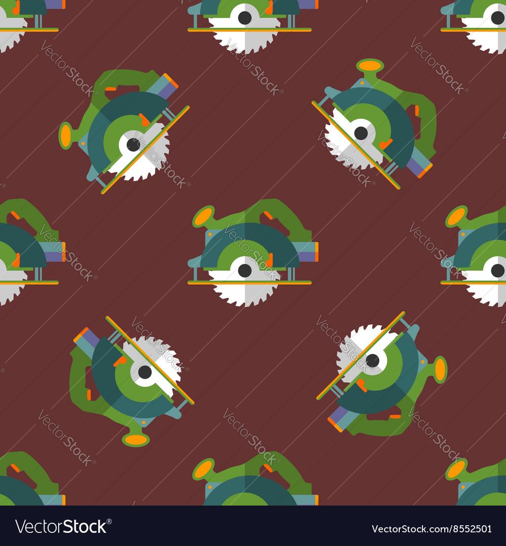 Circular saw seamless pattern