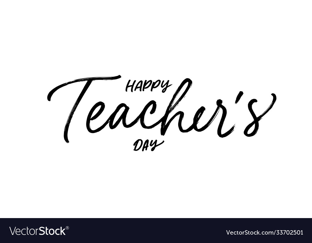 Happy teacher s day brush calligraphy