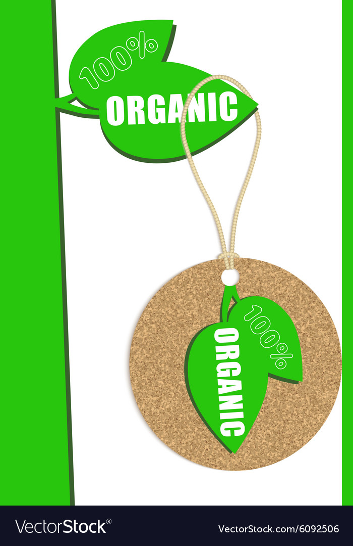 100 percent organic cork natural tag sale label