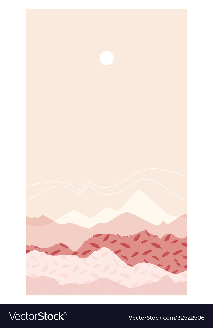 Abstract mountain landscape a mount warm