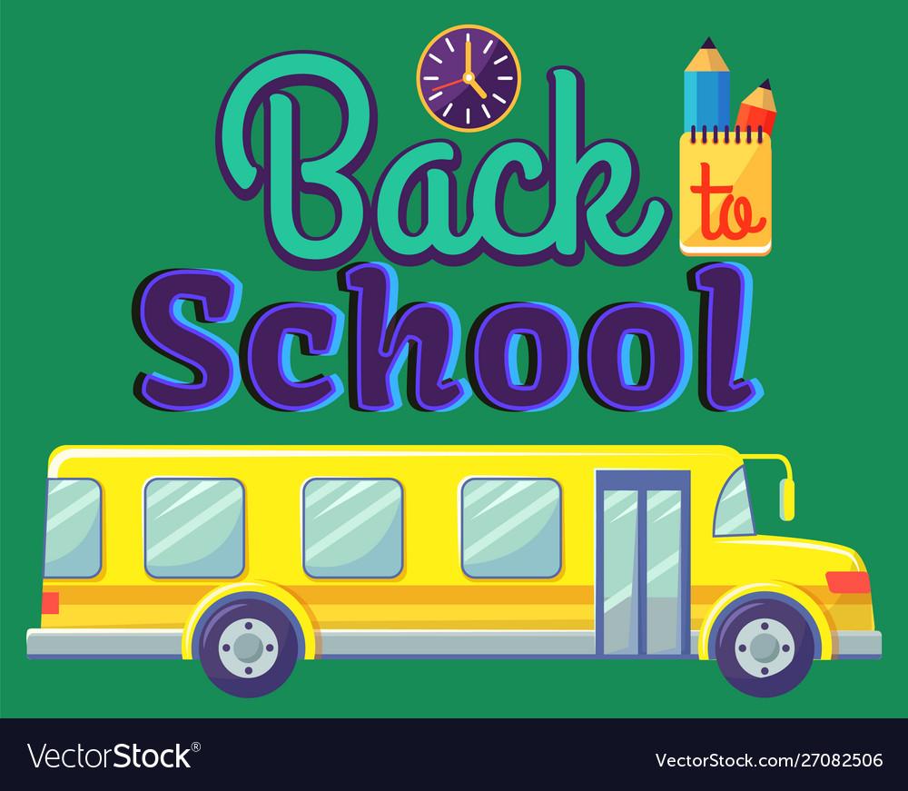 Back to school bus for kids pupil transportation