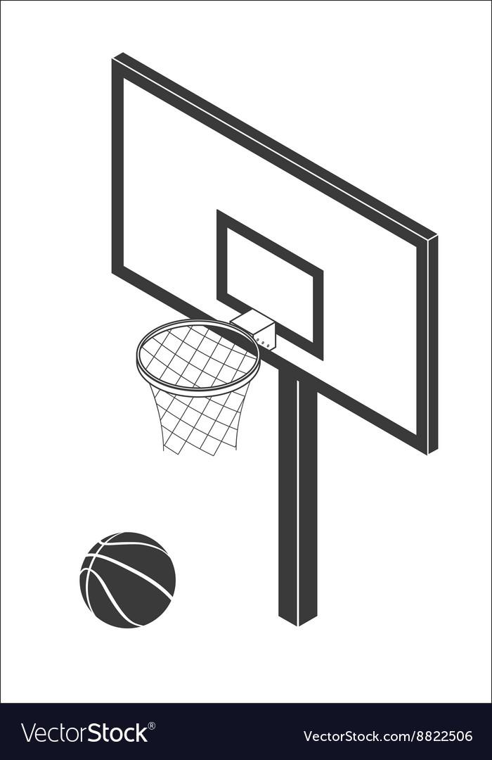 Basketball backboard icon