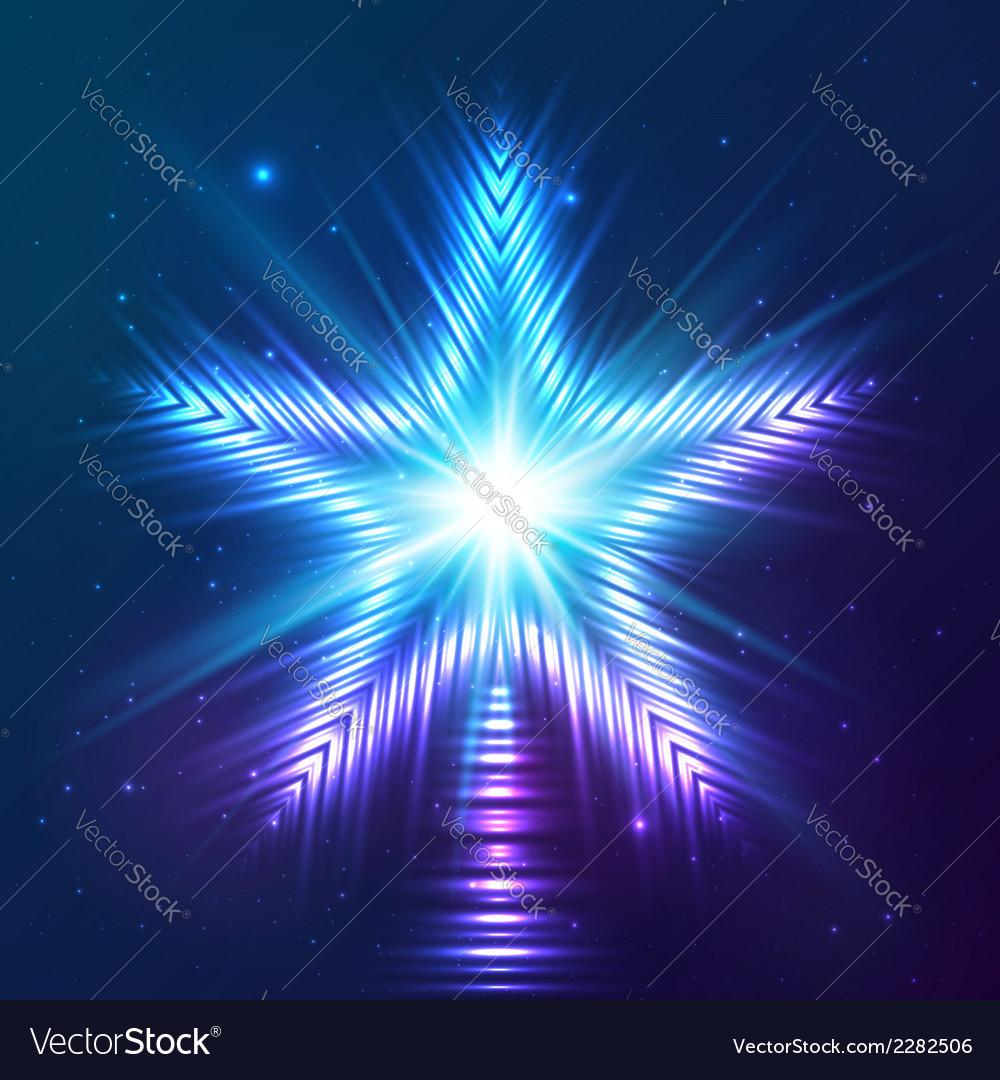 Blue shining star