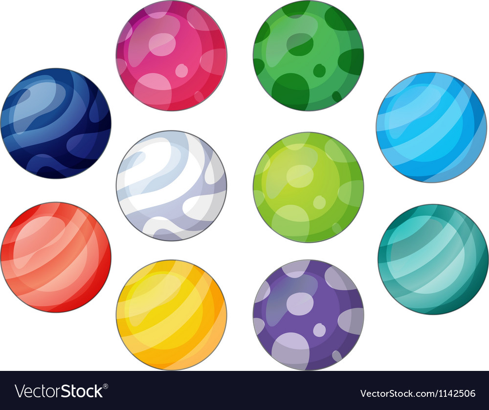 Group of balls vector image