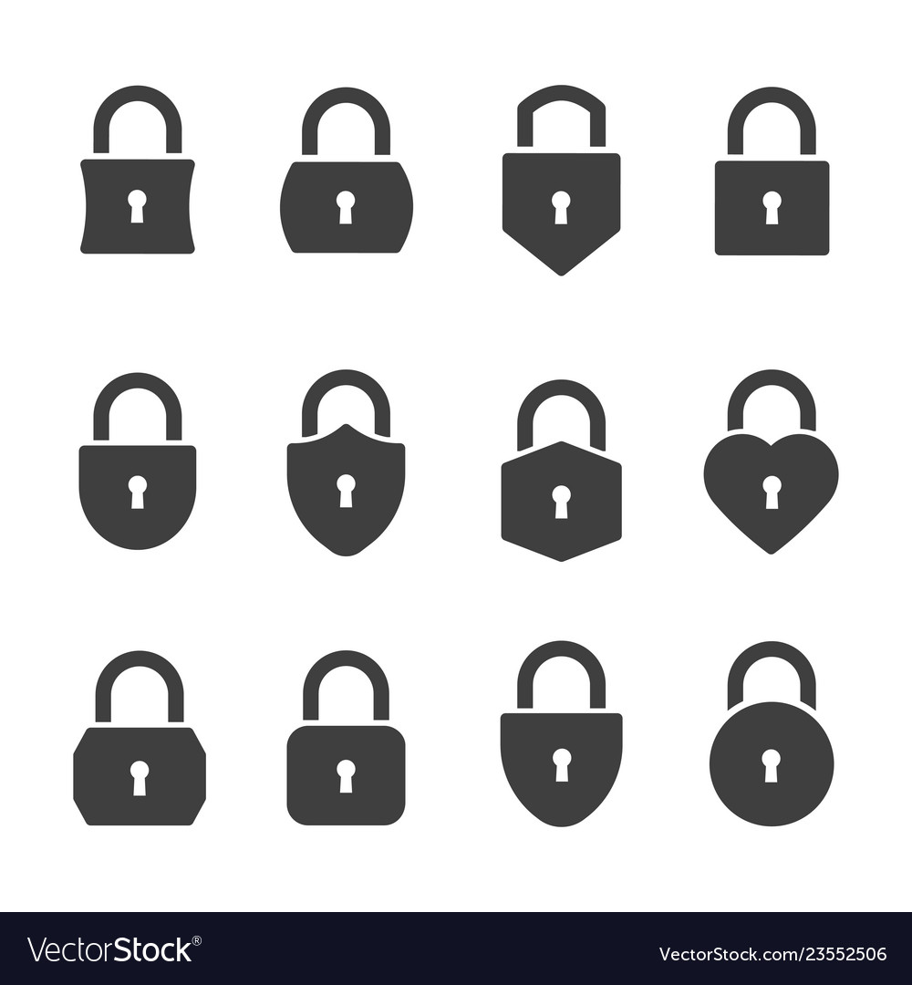 Padlocks icon set