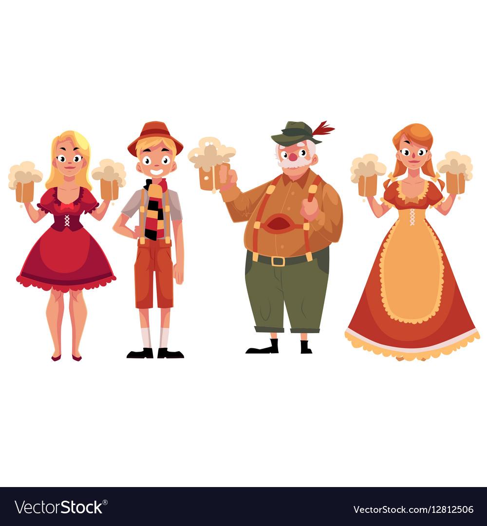 People in traditional German Bavarian costume