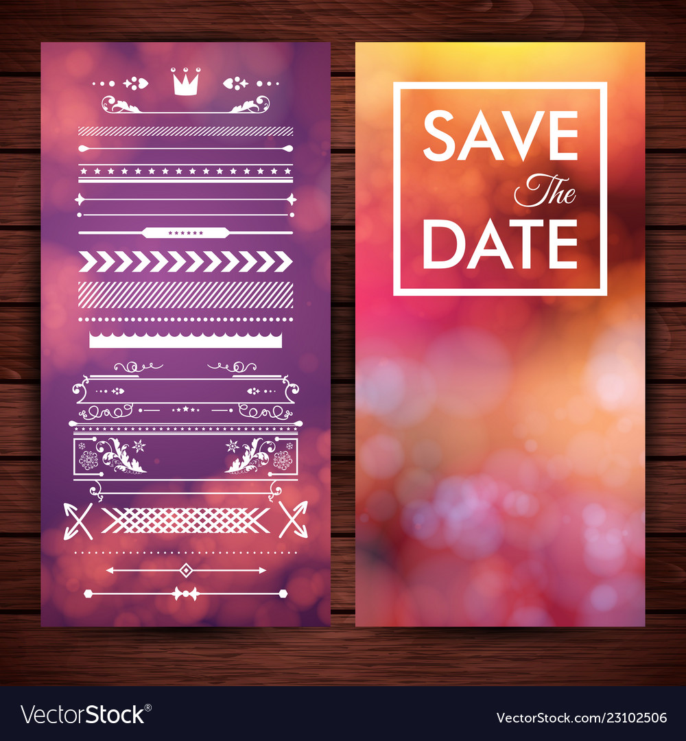 Save date invitation stationery