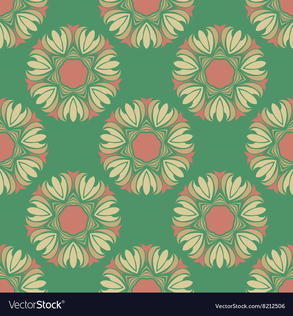 Seamless pattern in the style boho vector image