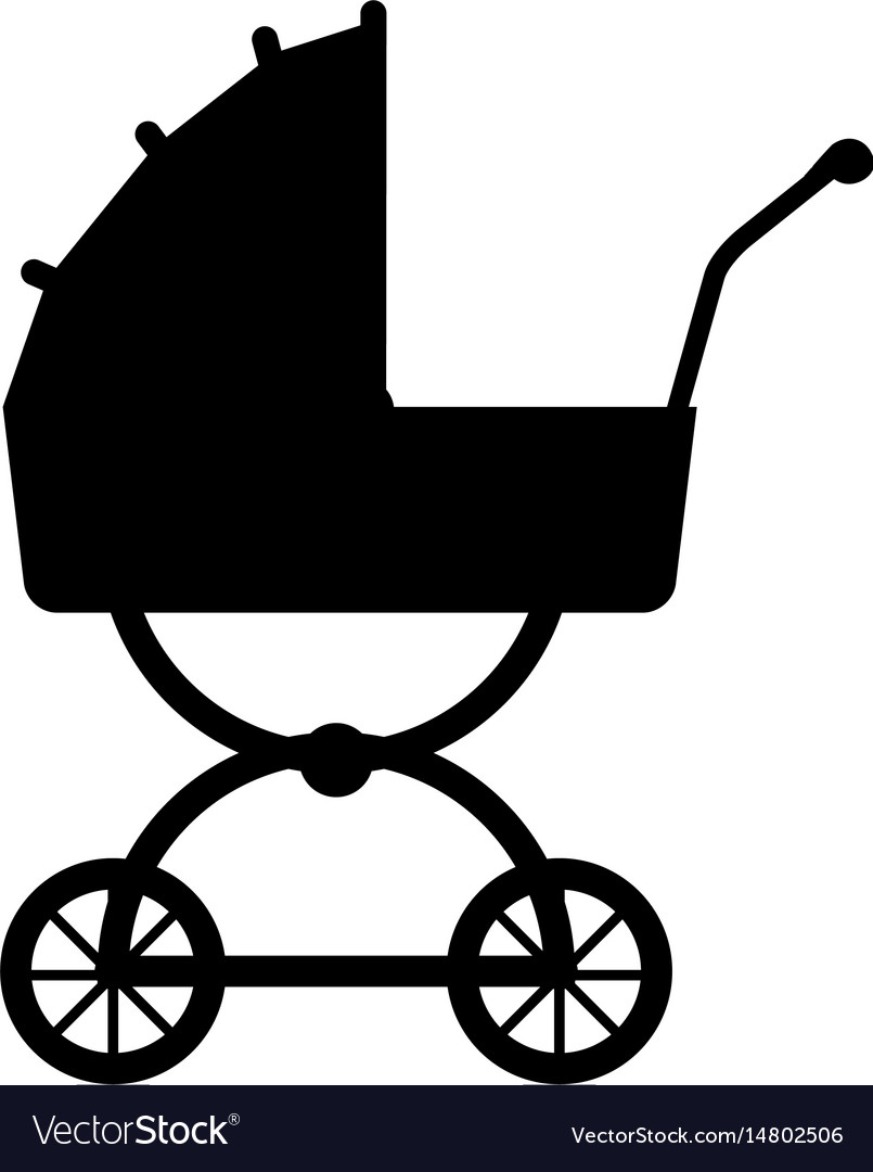 Silhouette carriage baby wheel design