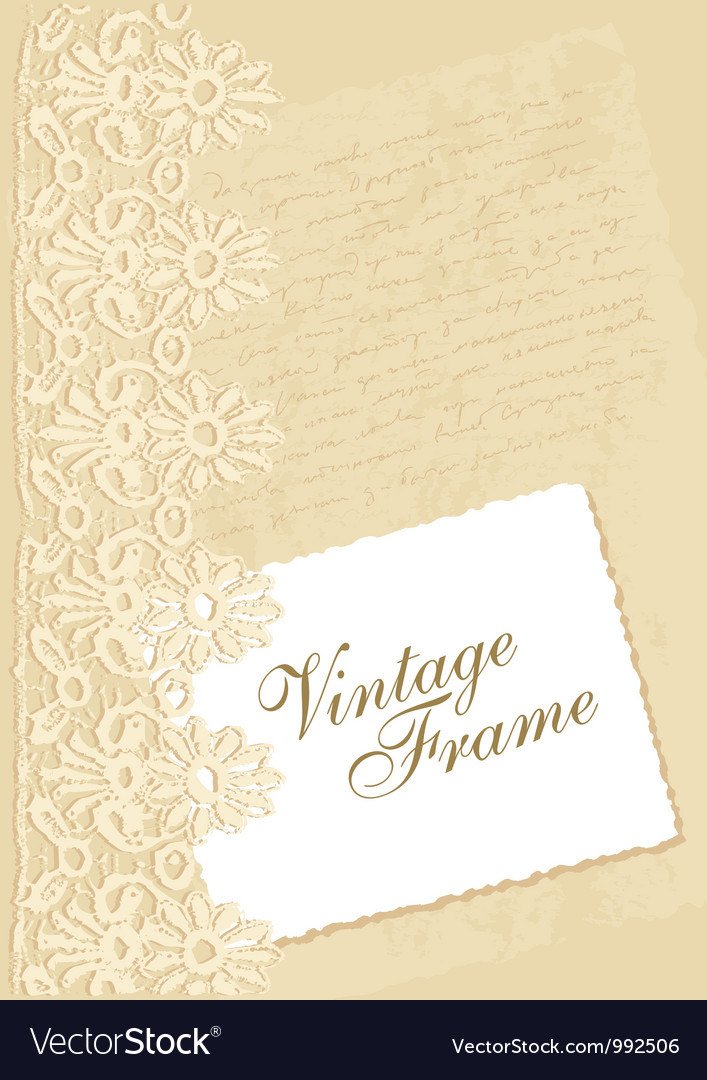 Vintage background with photo frame
