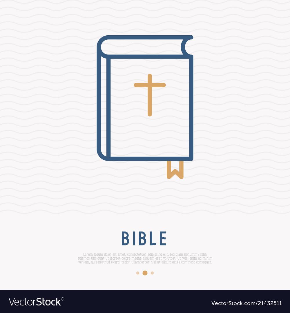 Bible thin line icon modern