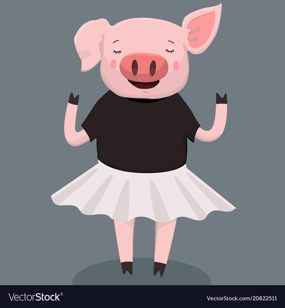 Cute pig print