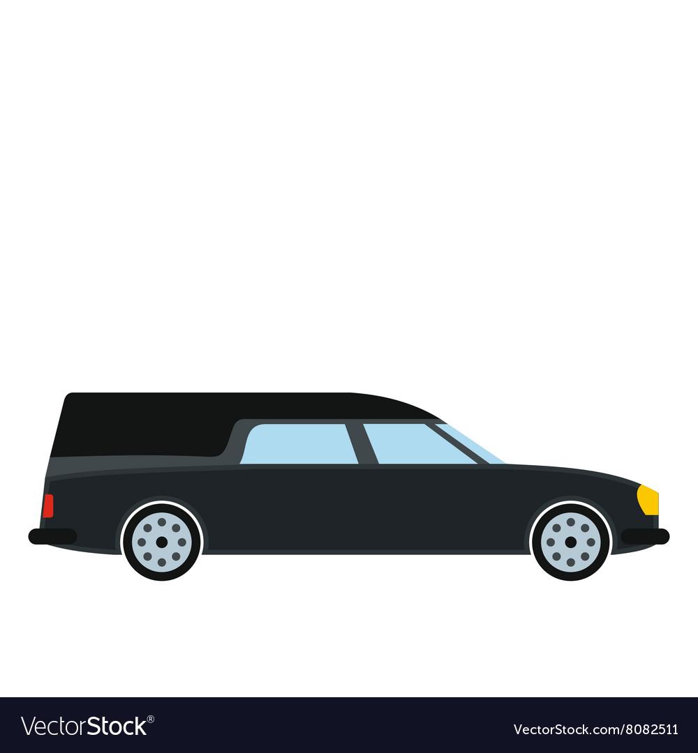 Hearse Car Icon Royalty Free Vector Image Vectorstock
