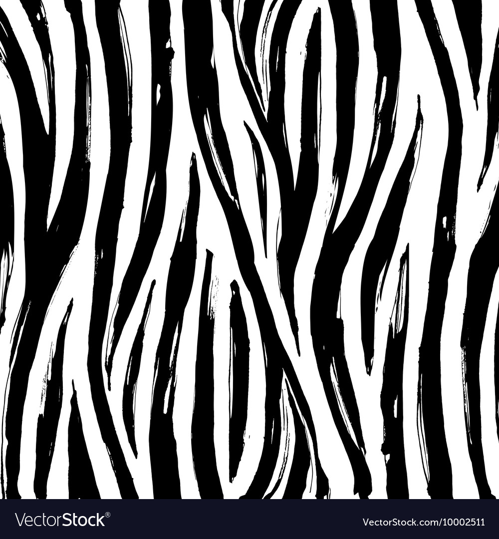 Zebra print background pattern Black and white vector image