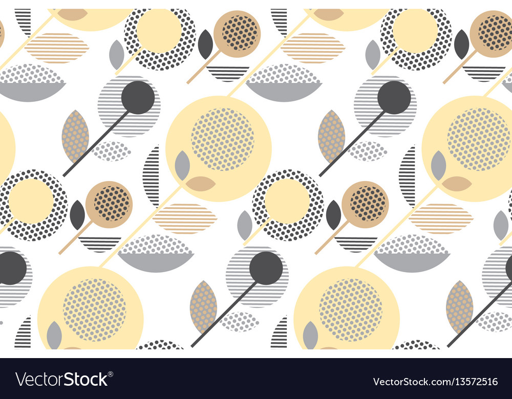 Abstract stylized floral creative pale color vector image