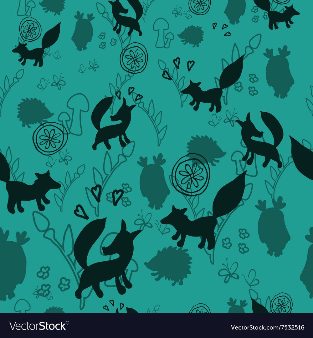 Animal pattern with wild animals