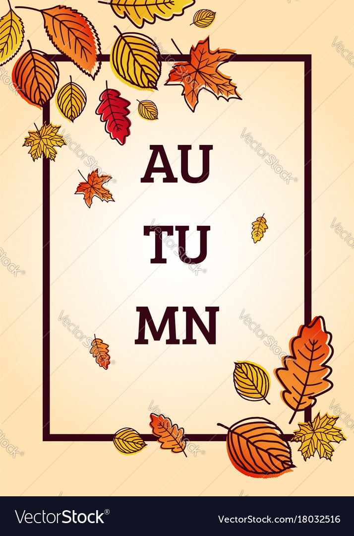 Autumn sale background with falling autumn leaves