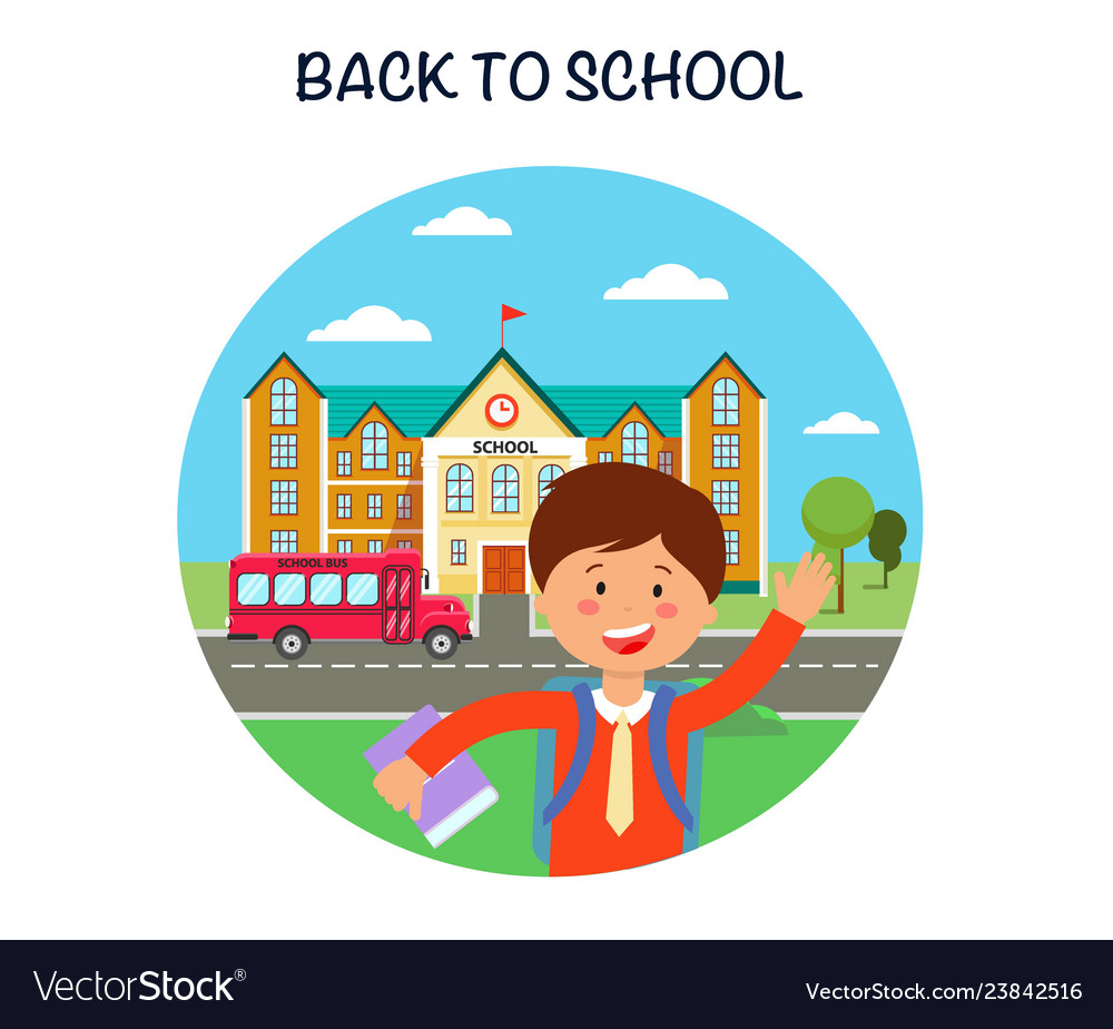 Back to school poster flat